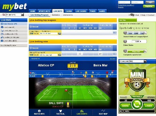 Mybet Live Betting